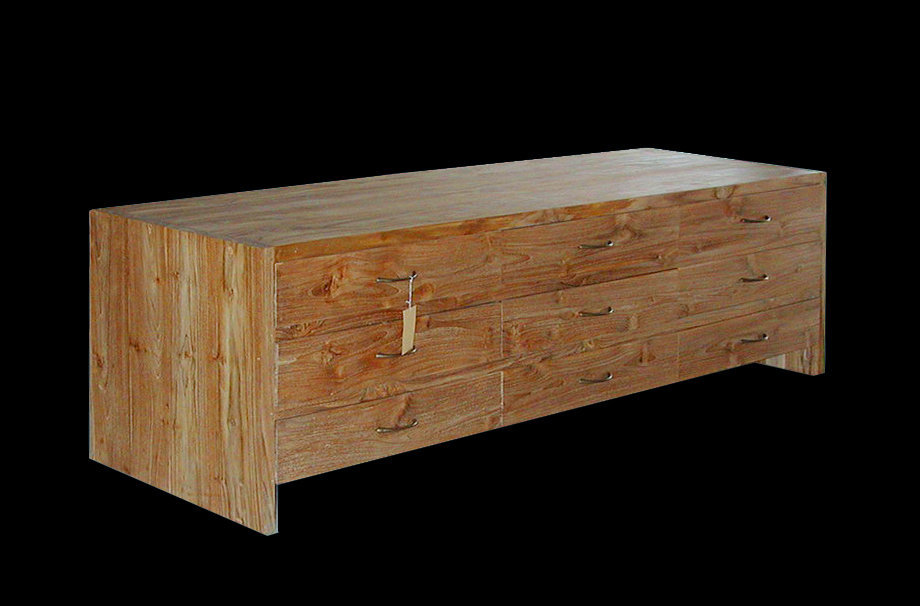 Teak chgest with 9 drawers minimalist decor bayu international trading Bali