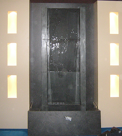 stand alone wall fountain