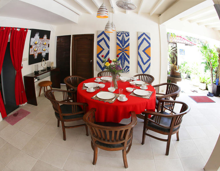 Dining area and decoration