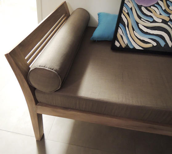 Solid Teak Sofa with cushion from Bali by Bayu trading