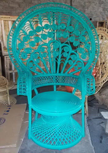 Handmade woven rattan small emmanuelle lounge arm chair