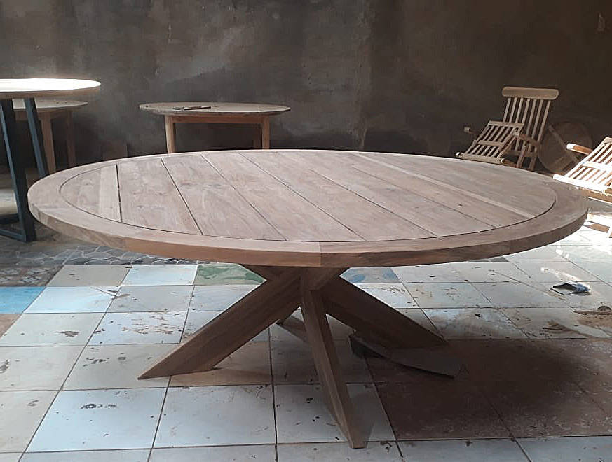 round coffee table made from wood
